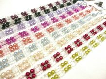 2 Tantalise Curtain Tiebands 65cm Beaded Drape Tiebacks Fabric Tie backs 9cols